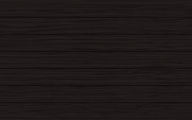 Black wood planks vector texture background vector art illustration