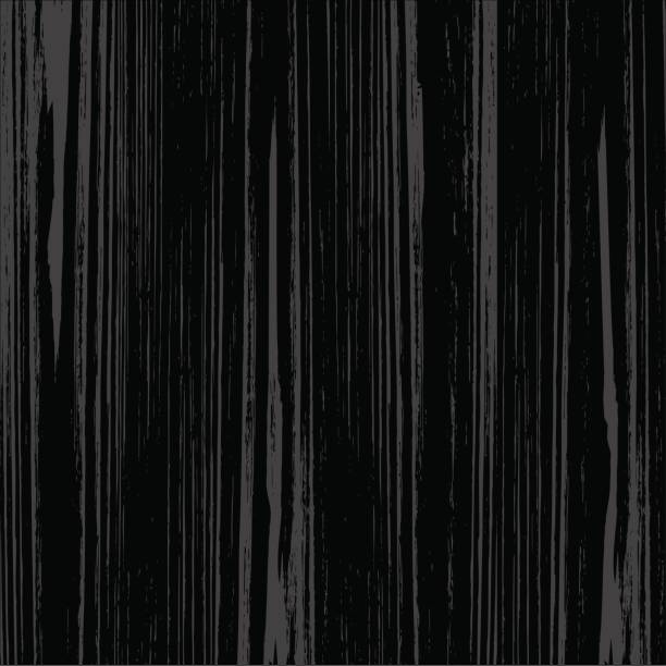Black wood texture vector art illustration