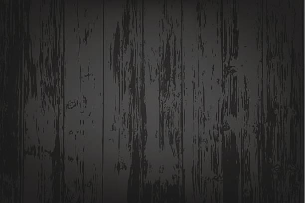 Black wooden textured background vector art illustration