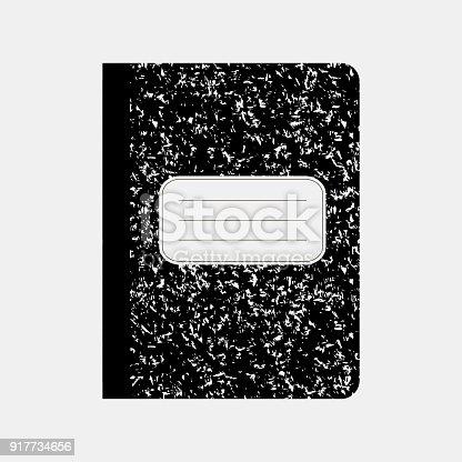 istock Black workbook, notebook 917734656