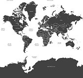 Black World map countries