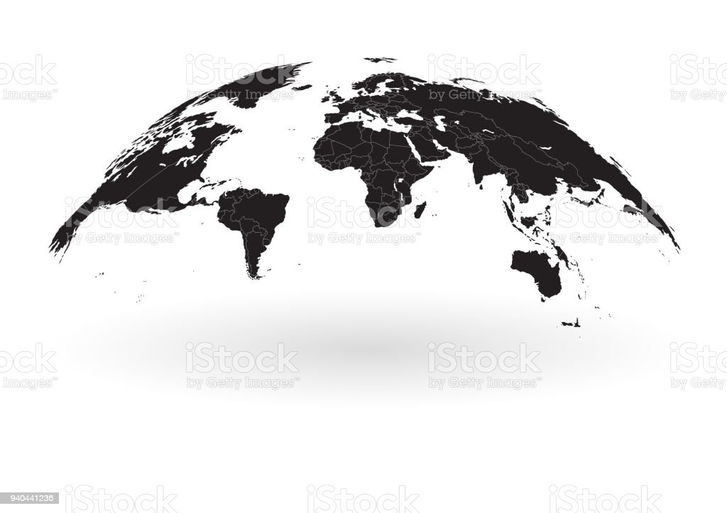 Black world map globe isolated on white background stock vector art black world map globe isolated on white background royalty free black world map globe isolated gumiabroncs Image collections