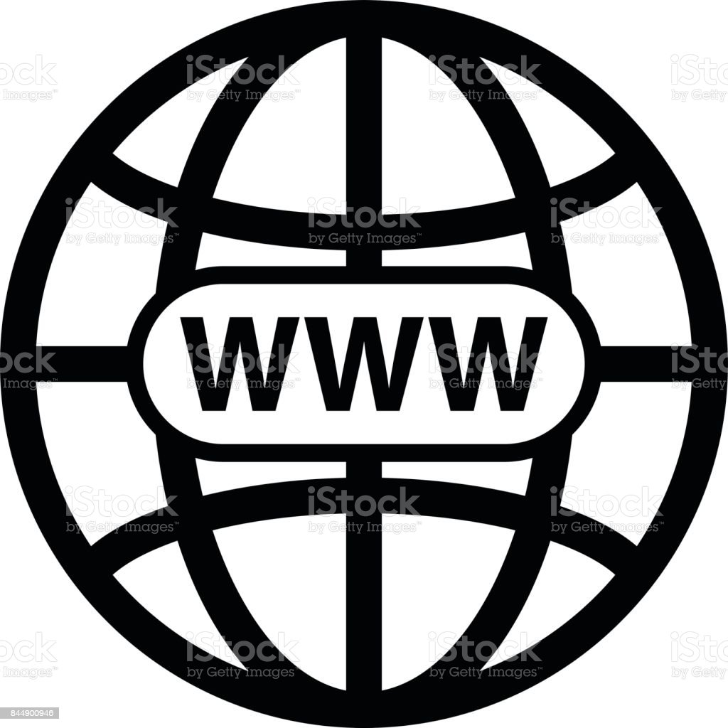 Black world wide web vector icon stock vector art more images of black world wide web vector icon royalty free black world wide web vector icon stock biocorpaavc