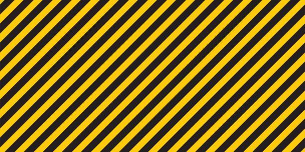 Black yellow stripes wall Hazard industrial striped road warning Yellow black diagonal stripes Seamless pattern Vector Black yellow stripes wall. Hazard industrial striped road warning. Yellow black diagonal stripes. Caution background. Coronavirus covid - 19. Seamless pattern Vector illustration. striped stock illustrations