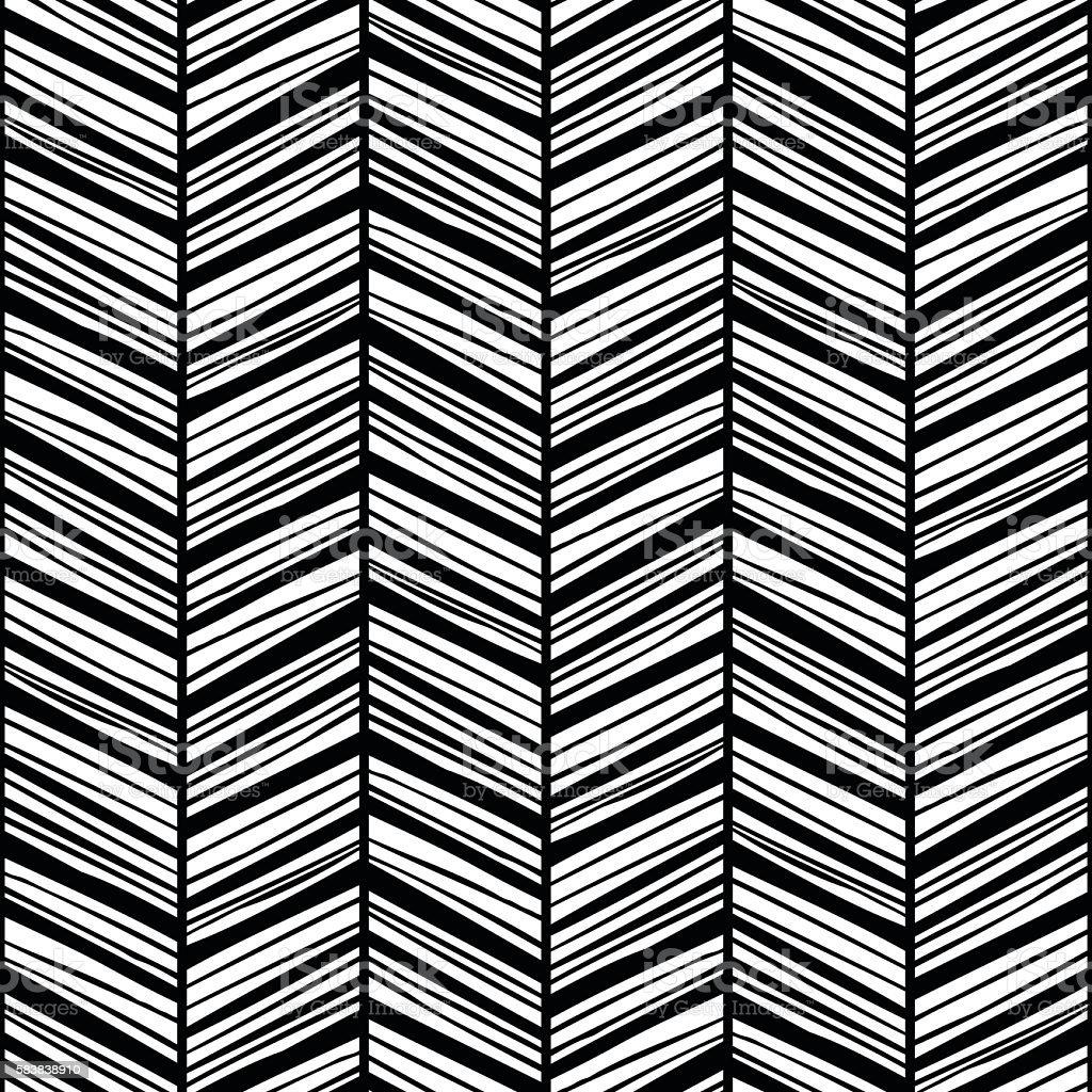 Black Zigzag Lines Stock Illustration - Download Image Now