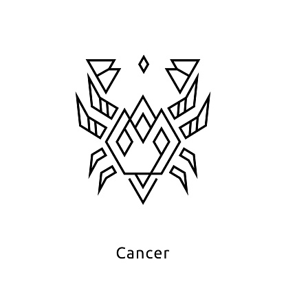 Black Zodiac Vector Line icons on white background. Easy editable colors. For logo design, interior design, mobile interface and web design, for printables and social media, for posters and t-shirts.