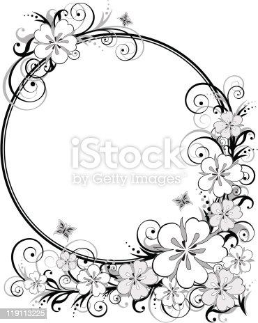 Preto E Branco Moldura Floral Download Vetor E Ilustra O