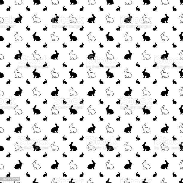 Blackandwhite vector seamless pattern background of rabbit vector id692279486?b=1&k=6&m=692279486&s=612x612&h=ovyt vezygoopcfd0khvs3qef9plueygveh0drrnbse=