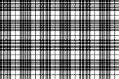 Blackberry tartan clan black white pixel seamless pattern. Vector illustration.