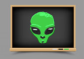 blackboard alien lesson