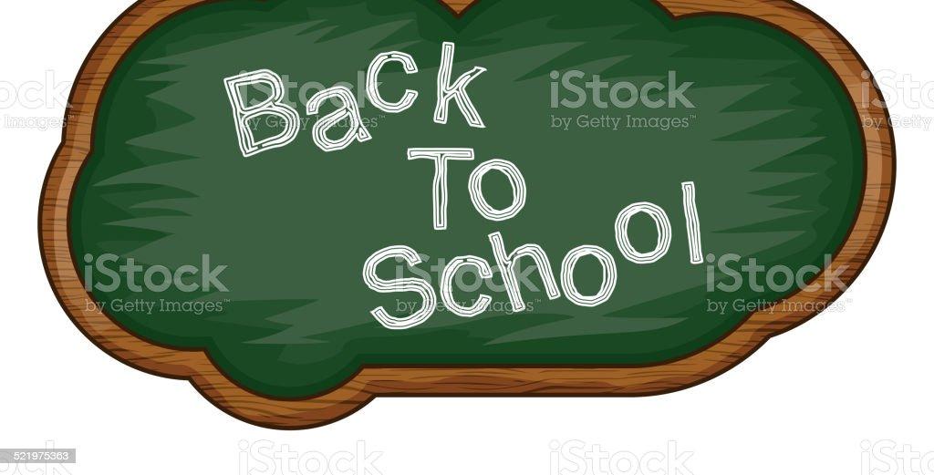Blackboard Back to School cloud vector art illustration