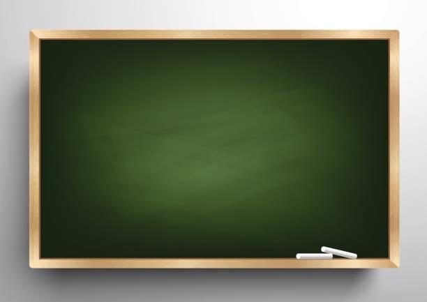 Blackboard background wooden frame, rubbed out dirty chalkboard, vector illustration vector art illustration