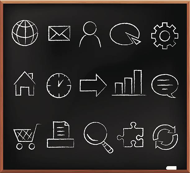 Schreibtafel computer icon – Vektorgrafik
