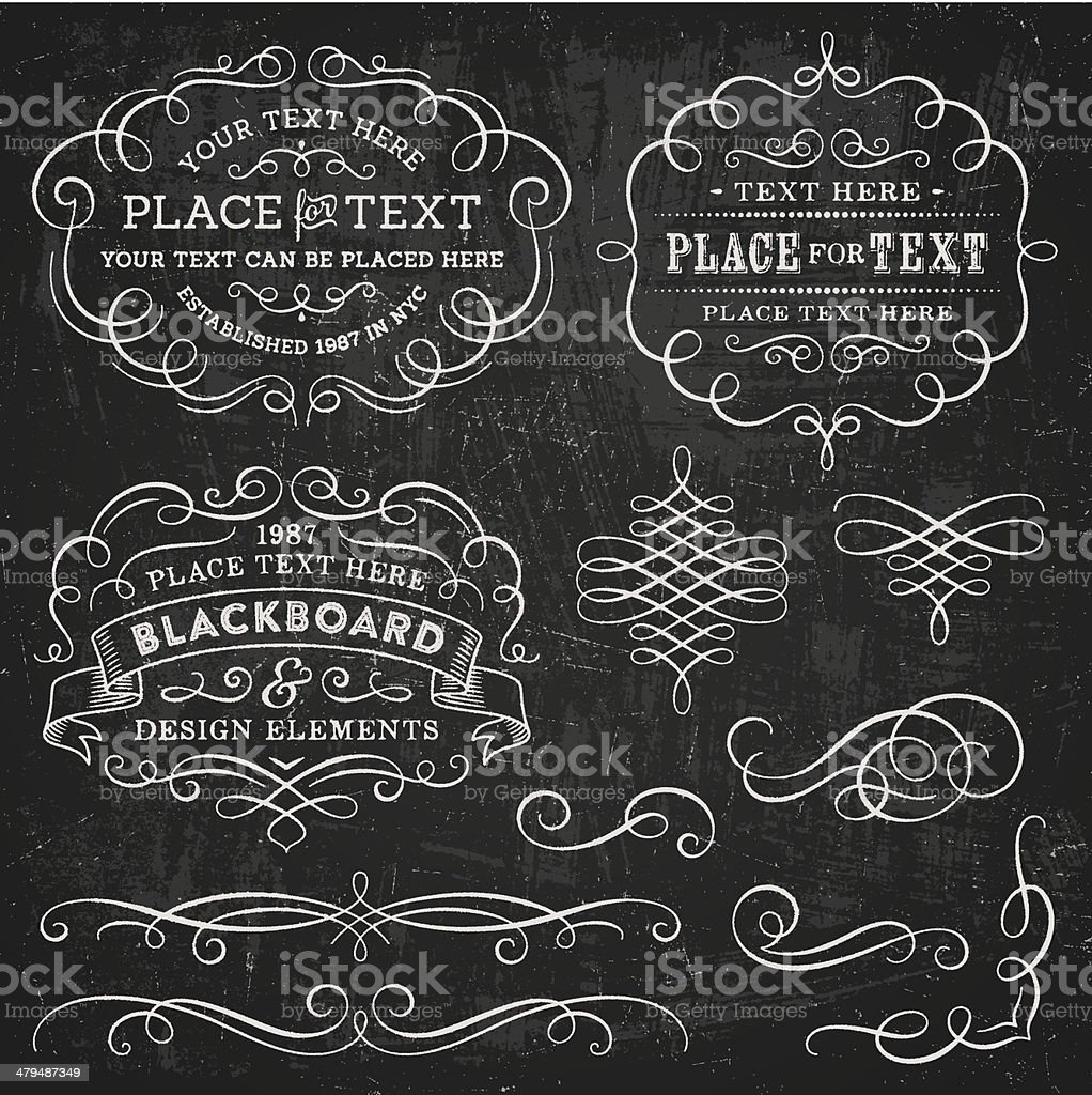 Blackboard Design Elements Stock Illustration