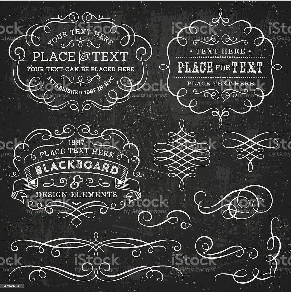 Blackboard Design Elements vector art illustration