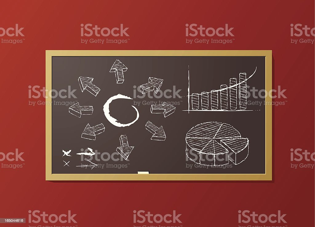 Blackboard with sketches royalty-free blackboard with sketches stock vector art & more images of arrow symbol