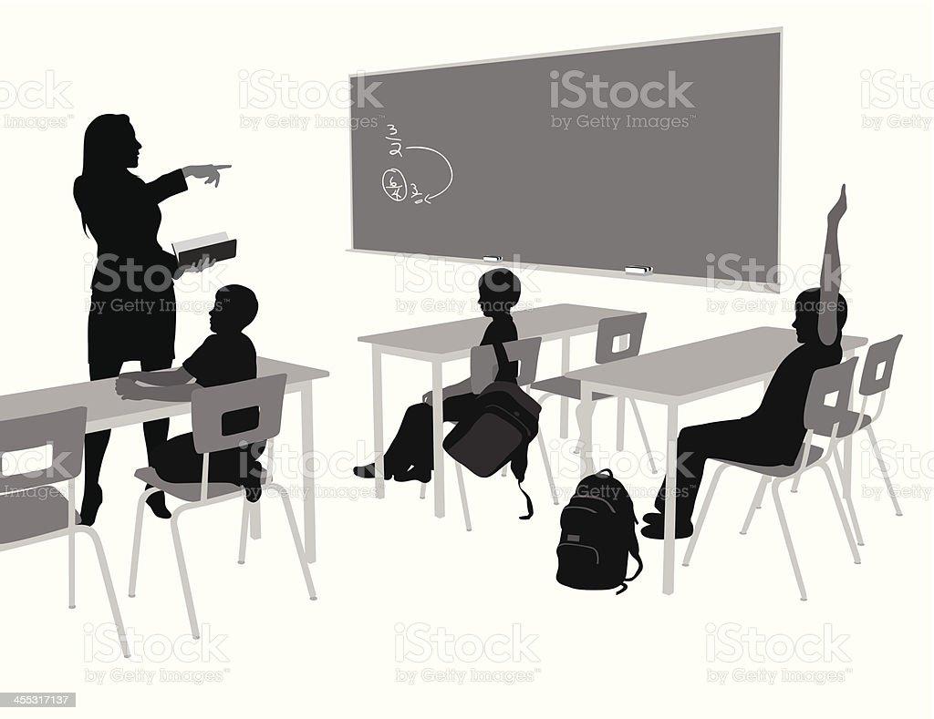 Blackboard'n Teacher Vector Silhouette royalty-free stock vector art