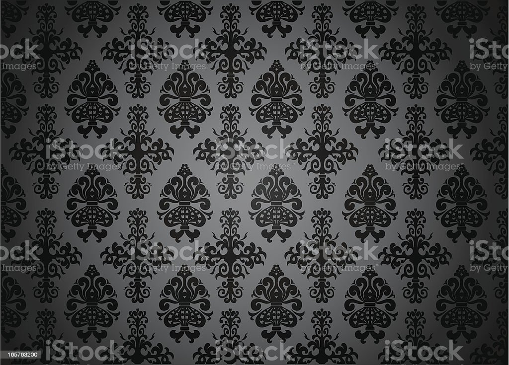 Blacked-out pattern vector art illustration