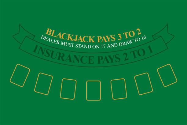 blackjack-tisch. ansicht von oben - tischarrangements stock-grafiken, -clipart, -cartoons und -symbole