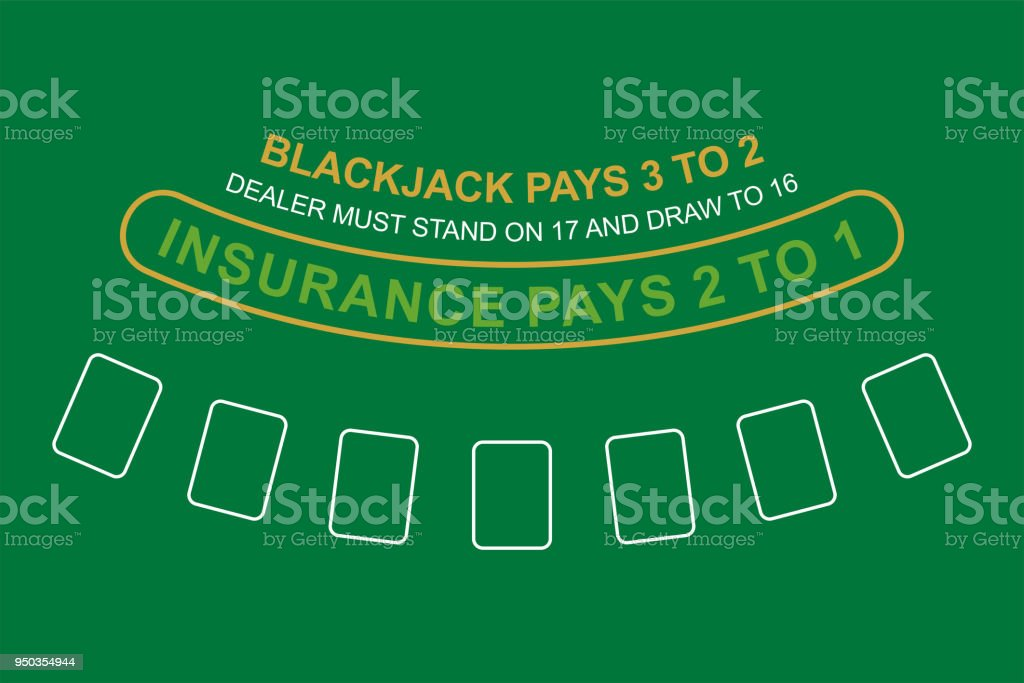 Blackjack Table. Top View Royalty Free Blackjack Table Top View Stock  Vector Art U0026amp