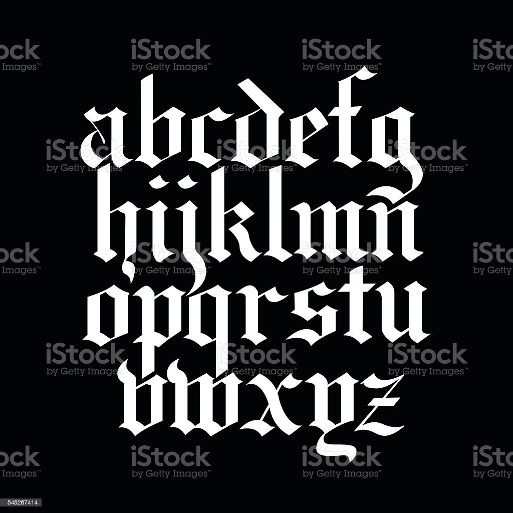 Blackletter calligraphy font ベクターアートイラスト