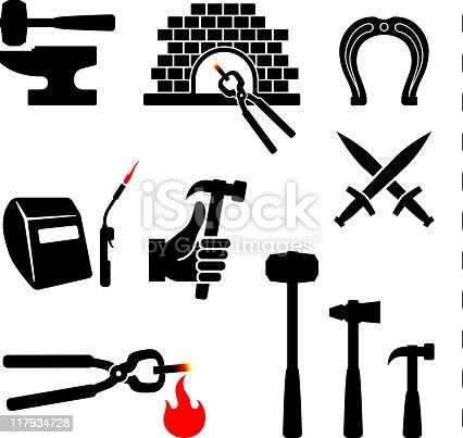 blacksmith black and white set