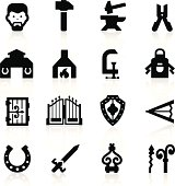 Blacksmith icons set – elegant series