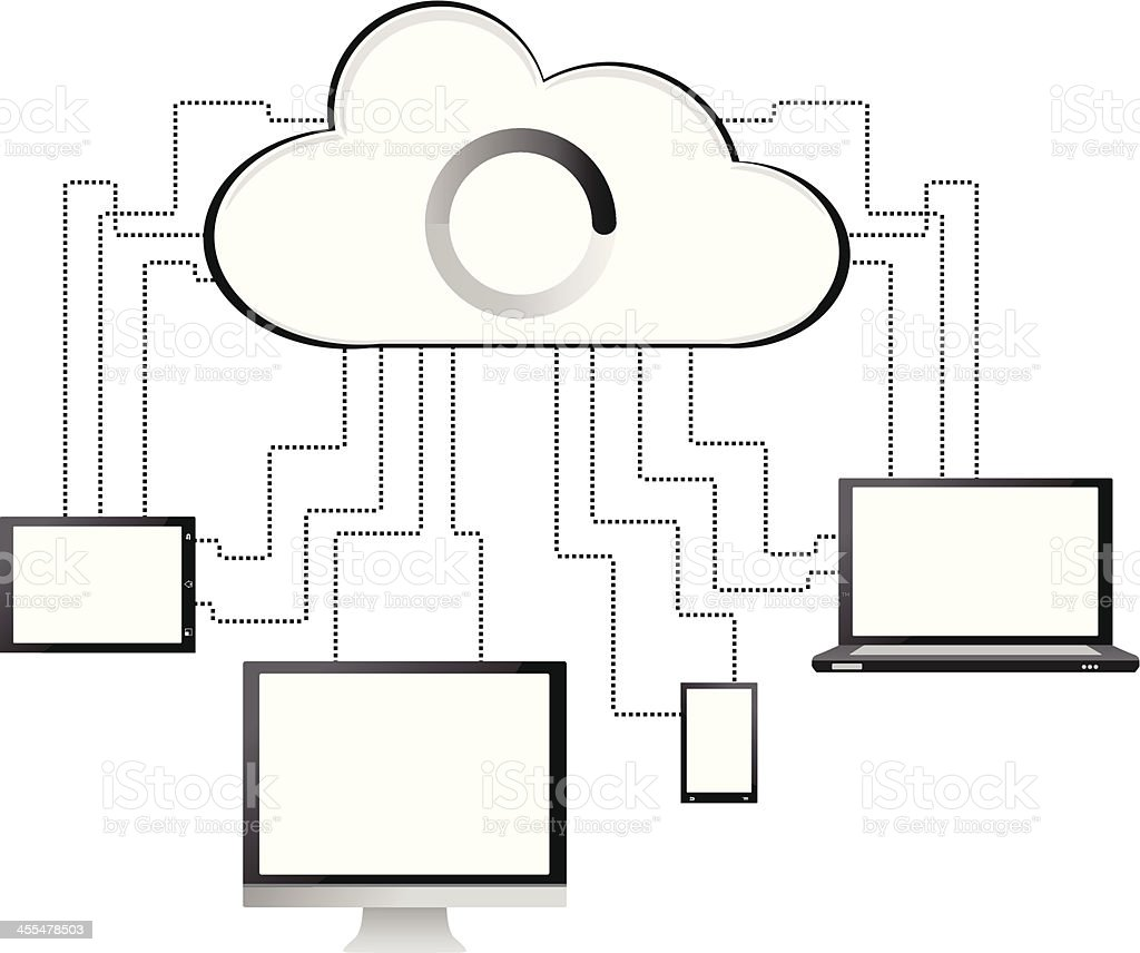 Black&white cloud computing concept royalty-free blackwhite cloud computing concept stock vector art & more images of binary code