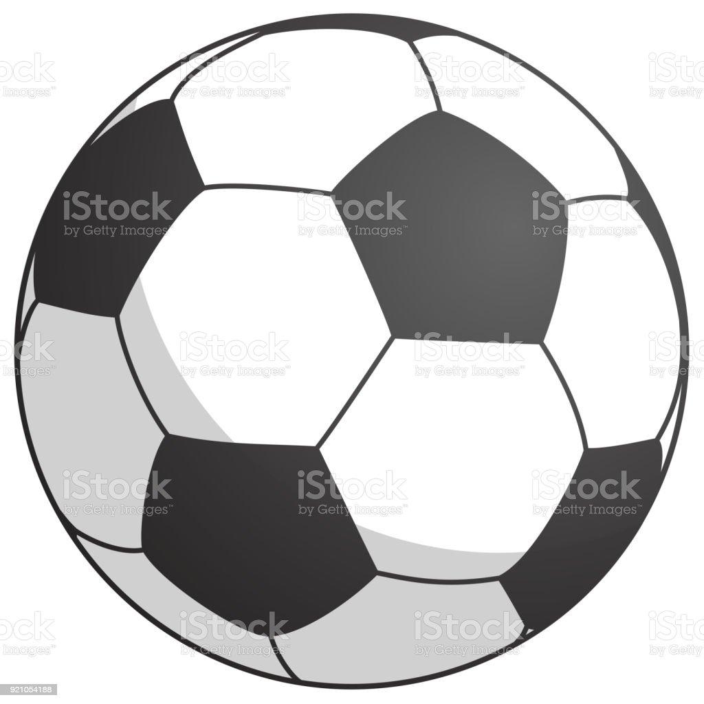 football-noir blanc - simplement l'illustration vectorielle - Illustration vectorielle