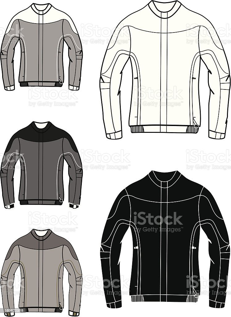 black&white&grey jacket royalty-free stock vector art