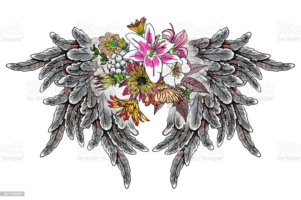 Elements De Tatouage De Blackwork Isoles Sur Fond Blanc Tattoo Flash