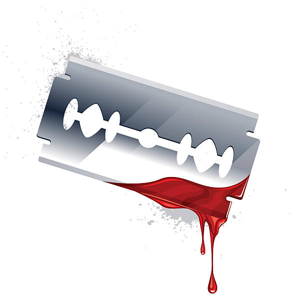 blade Vector illustration of blade with blood. blade stock illustrations