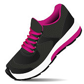 istock Blake pink sneakers for sports. Fitness shoes. Vector illustration 1256638462