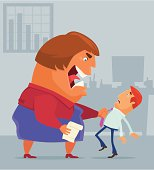 vector illustration of angry boss blaming staff ....  [url=http://www.istockphoto.com/my_lightbox_contents.php?lightboxID=6533079] [img]http://work.idgraphic.net/same_stylemen.jpg[/img][/url]