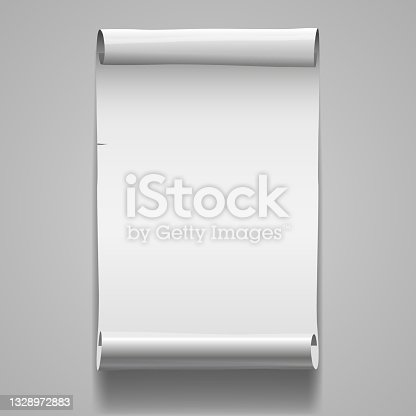 istock Blanc Roll Poster Template Page Banner Vector 1328972883