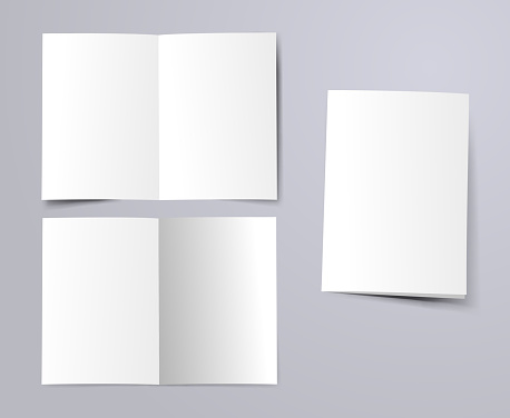 blank a4 folded paper