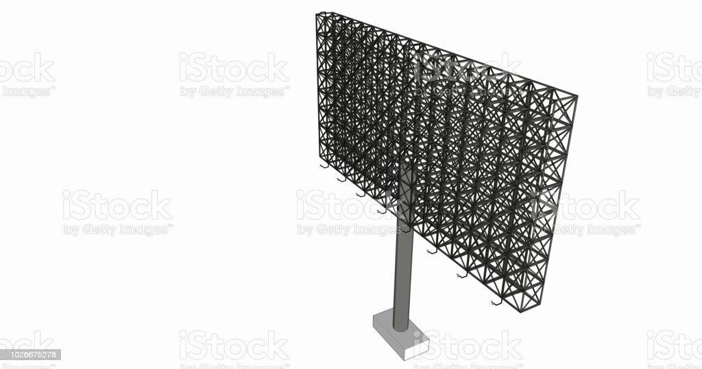 Publicité Blanche Anglosaxon Structure Métallique Taille 16
