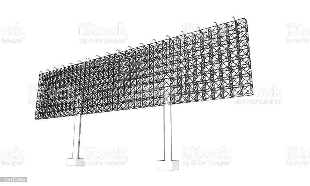 Publicité Blanche Anglosaxon Structure Métallique Taille 16 De 68 Mètres Environ 30 Mètres De Haut Peuvent Être Utiliser Pour La Conception De La