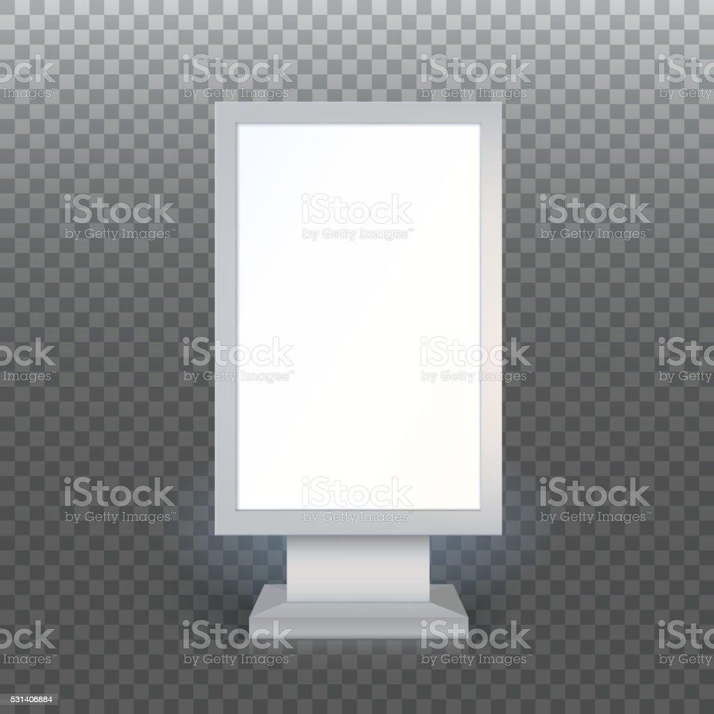 Blank advertising billboard vector art illustration