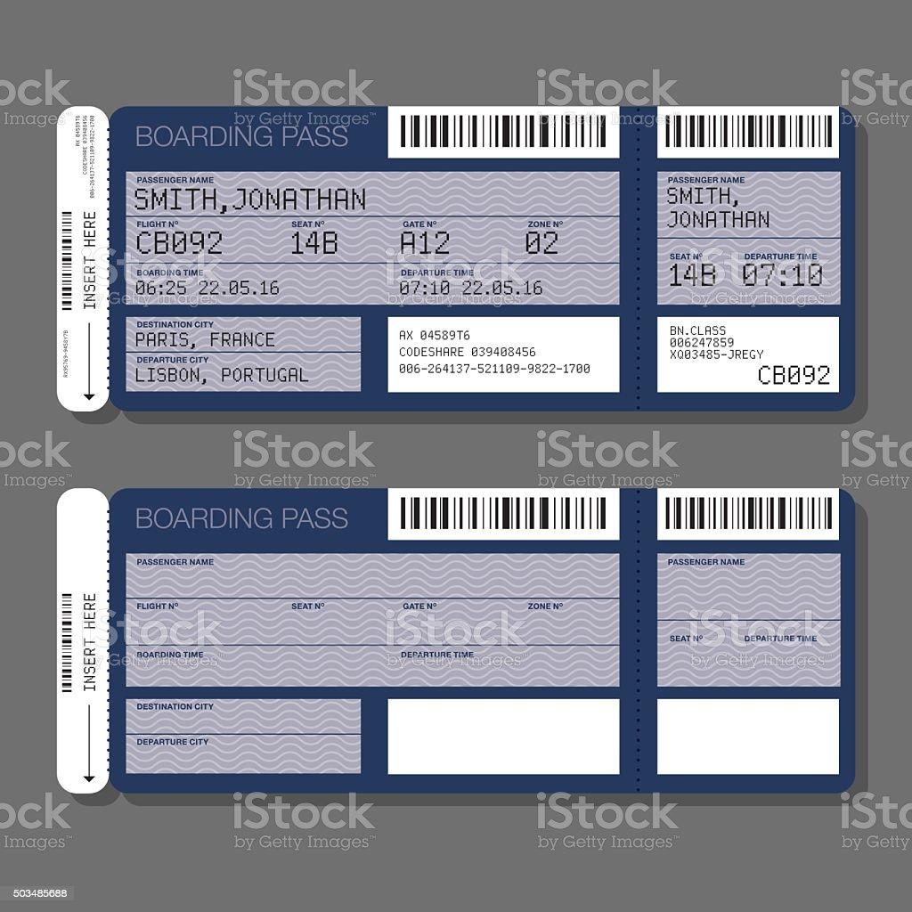 Leere Vorlage Airportbordkarte Stock Vektor Art und mehr Bilder von ...