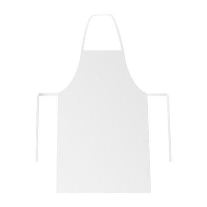 Blank apron mockup isolated on white backround