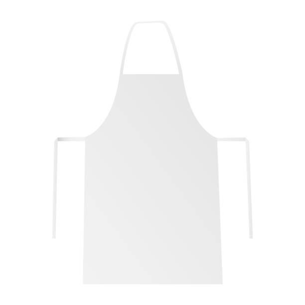 Blank apron mockup isolated on white backround White blank apron mockup isolated. Vector illustration apron stock illustrations