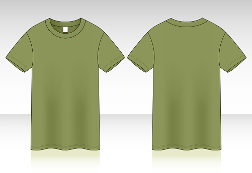 Blank Army T-Shirt Vector For Template