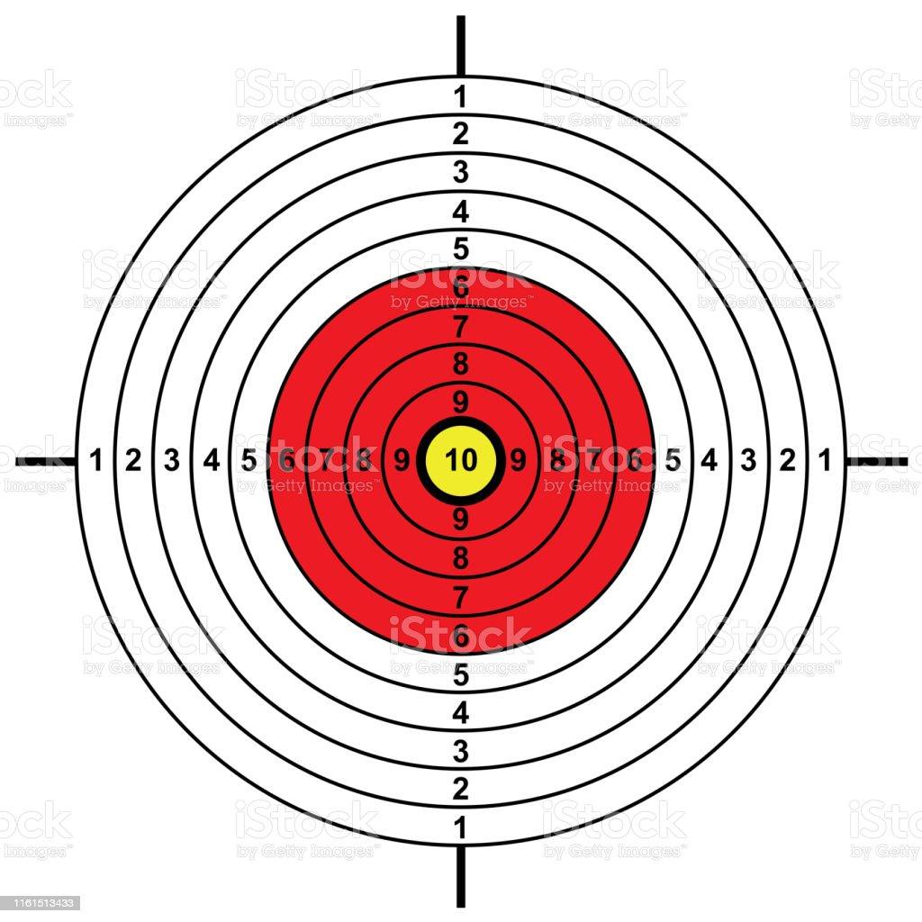 blank arrow target blank gun target paper shooting target blank...