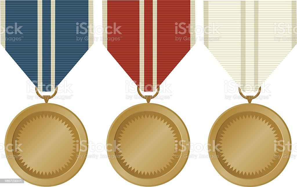 Blank Award Medal Set royalty-free stock vector art