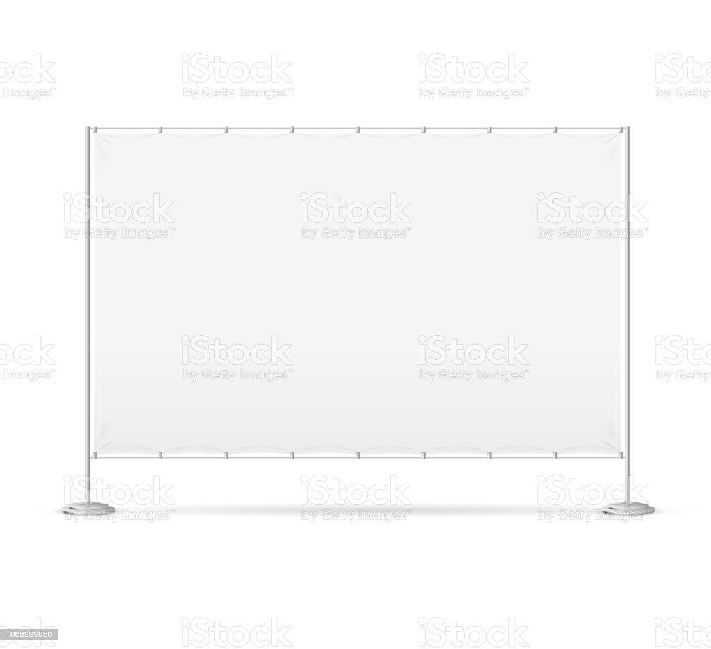 Blank Banner Billet Press Wall. Vector vector art illustration