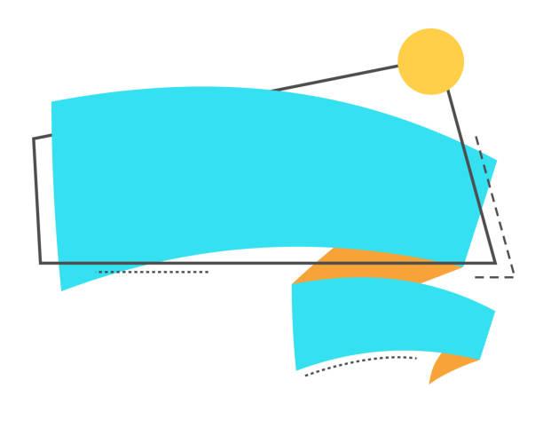 illustrazioni stock, clip art, cartoni animati e icone di tendenza di striscione vuoto, carta con nastro luminoso. stile lineare illustrazione vettoriale. - titolo mondiale