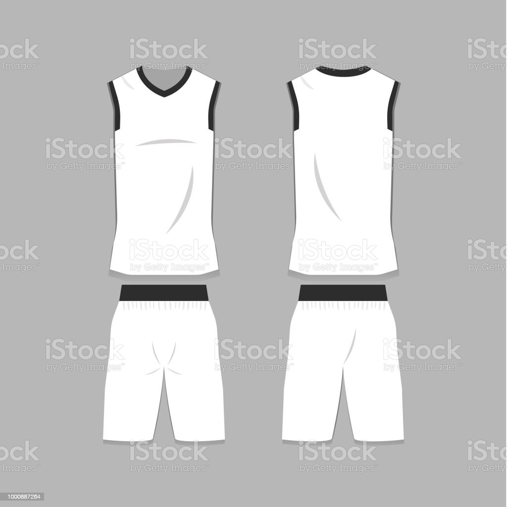 Blank Basketball Jersey Template Stock Vector Art More Images Of