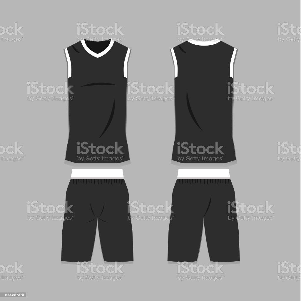 Leere Basketball Jersey Vorlage Stock Vektor Art und mehr Bilder von ...