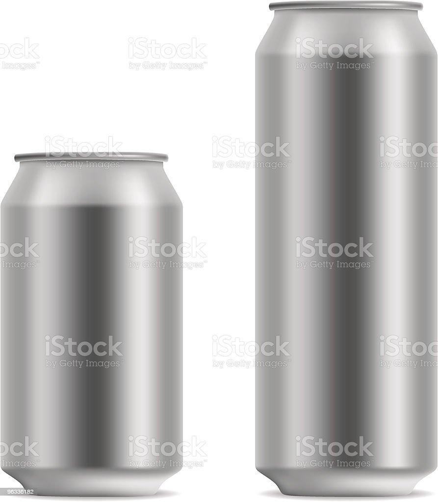 Blank beer can vector art illustration